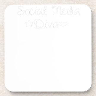 Sozialmedium-Diva - begrenzte Ausgabe Getränkeuntersetzer