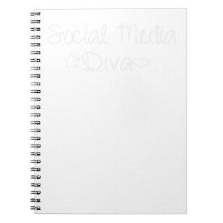 Sozialmedium-Diva - begrenzte Ausgabe Notizblock