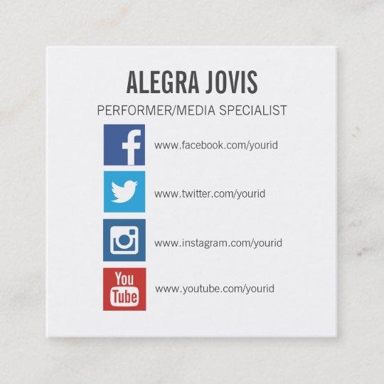Sozialmedium Ikonen Symbol Quadratische Quadratische