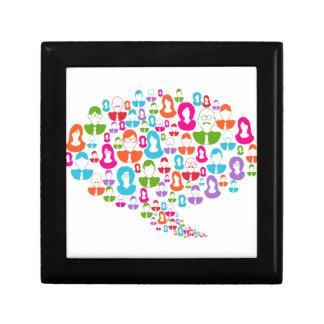 Sozialmedium-Kommunikations-Sprache-Blase Geschenkbox