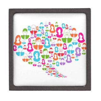 Sozialmedium-Kommunikations-Sprache-Blase Schachtel