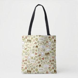 Sozialmedium-Süchtig-Taschen-Tasche Tasche