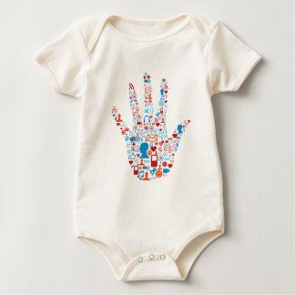 Sozialnetz-Hand Baby Strampler