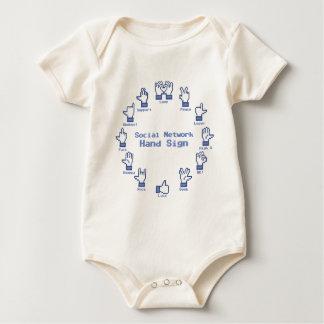 Sozialnetz-Handzeichen Baby Strampler
