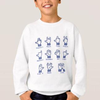Sozialnetz-Handzeichen Sweatshirt