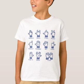 Sozialnetz-Handzeichen T-Shirt