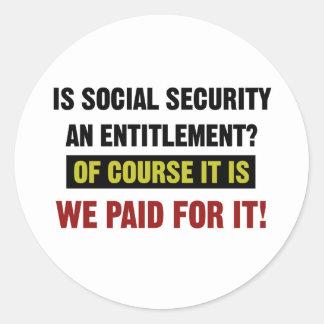 Sozialversicherung ist eine Bezeichnung, wir Runder Aufkleber