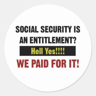Sozialversicherung ist eine Bezeichnung? , Zahlten Runder Aufkleber