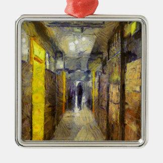 Sozialwohnung Van Gogh Hong Kong Quadratisches Silberfarbenes Ornament