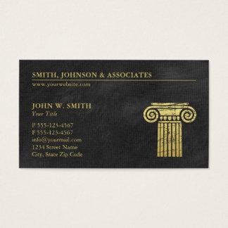 Sozietäts-Säule Rechtsanwälte der Visitenkarte