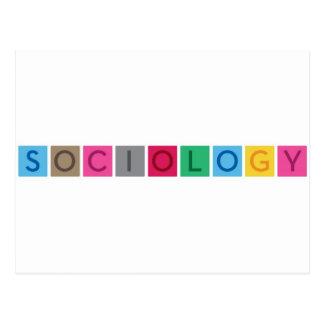 Soziologie Postkarte