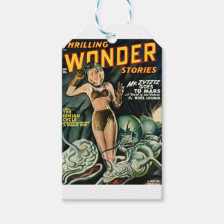 Spacegirl kämpft Schlamm-Monster Geschenkanhänger