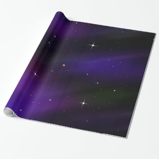 Spacescape mit Planeten und Sternen Geschenkpapier