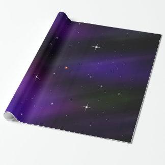 Spacescape mit Planeten und Sternen Geschenkpapierrolle