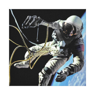 Spacewalk-Foto der NASAs erste amerikanisches Leinwanddruck