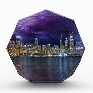 Spacey Chicago Skyline Acryl Auszeichnung