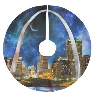 Spacey St. Louis Skyline Polyester Weihnachtsbaumdecke