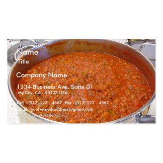 Spaghetti-Abendessen, das Visitenkarte