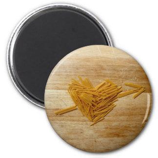 Spaghetti-Liebe-Magnet Runder Magnet 5,1 Cm
