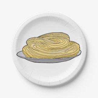 Spaghetti-Servierplatten-Pappteller Pappteller