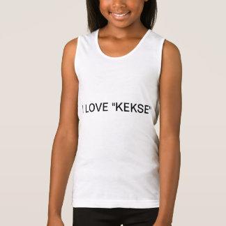 "Spaghetti Tank Top (weiß)- ""I♥Kekse"" /Größe: S"