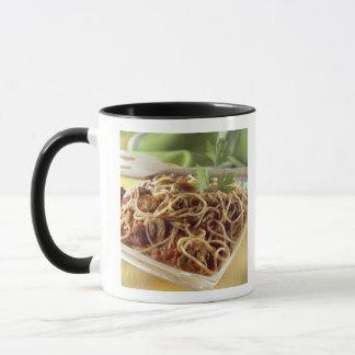 Spaghettis Bewohner von Bolognese für Gebrauch in Tasse
