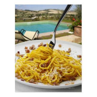 Spaghettis Carbonara Postkarte