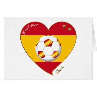 """SPAIN"" FOOTBALL Spanish Soccer Team FUSSBALL Karte"
