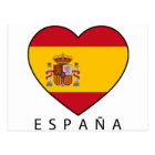 Spain Heart with black ESPANA Postkarte