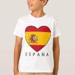 Spain Heart with black ESPANA Shirt