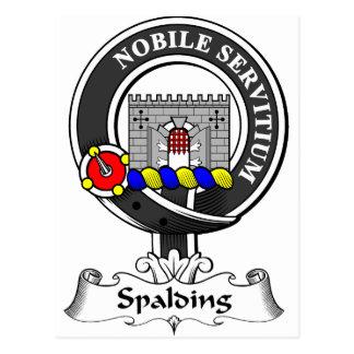 Spalding Clan-Wappen Postkarte
