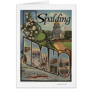 Spalding, Idaho - große Buchstabe-Szenen Karte