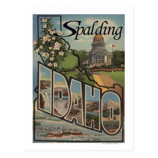 Spalding, Idaho - große Buchstabe-Szenen Postkarte