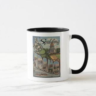 Spalding, Idaho - große Buchstabe-Szenen Tasse