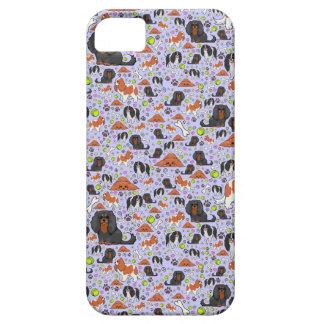 Spaniels in Lila iPhone 5 Etui