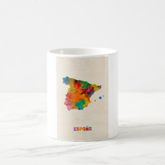 Spanien-Aquarell-Karte Tasse