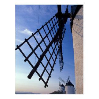 Spanien, Consuegra, Kastilien-La Mancha-Windmühlen Postkarte