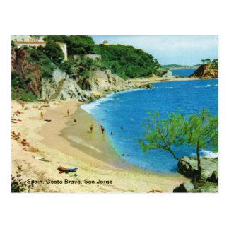 Spanien, Costa Brava, San Jorge Postkarte