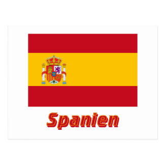 Spanien Dienstflagge MIT Namen Postkarte
