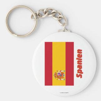 Spanien Dienstflagge MIT Namen Standard Runder Schlüsselanhänger