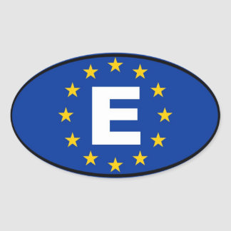 Spanien - europäische Gewerkschaft Ovaler Aufkleber