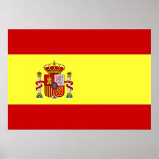 Spanien-Flagge Poster