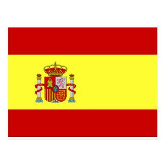 Spanien-Flagge Postkarte