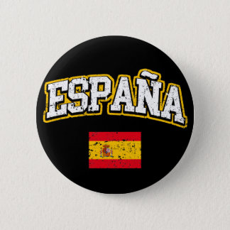 Spanien-Flagge Runder Button 5,1 Cm