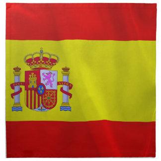 Spanien-Flagge Stoffserviette