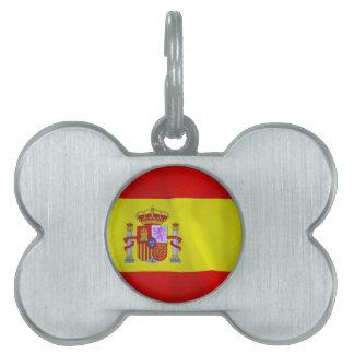 Spanien-Flagge Tiermarke