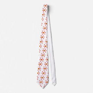 Spanien-Flagge und spanische Sprachentwurf Bedruckte Krawatte