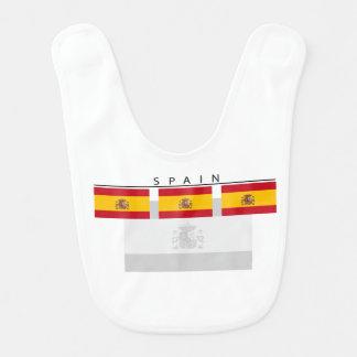 Spanien-Flaggen-Baby-Schellfisch Babylätzchen