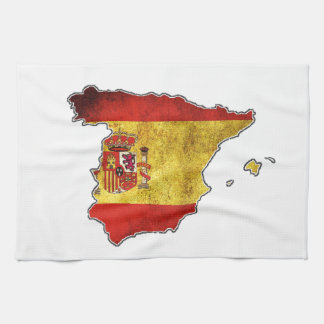 Spanien-Flaggen-Karte Küchentuch