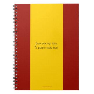 Spanien-Flaggen-Notizbuch Notizbuch